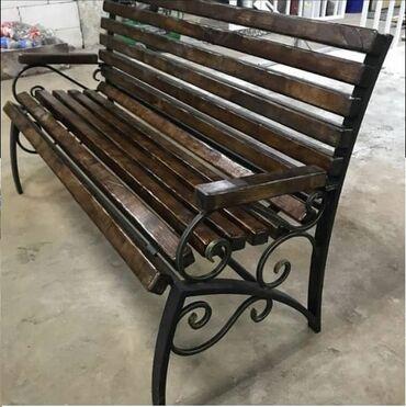 Садовая мебель - Кыргызстан: Скамейки для парков и частных домов. Готовые модели, а также варианты