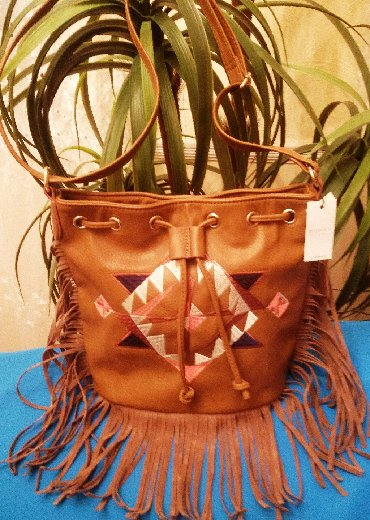 veritas - Azərbaycan: Красивая стильная сумка с вышивкой и бахромой из Испании, Women