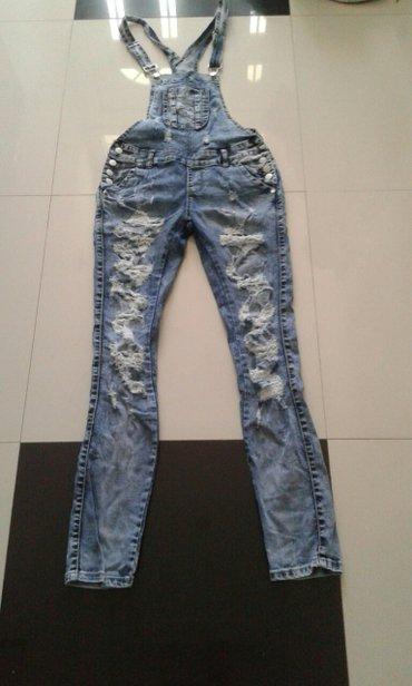 Teksas kombinezon iscepani ekstra stoji luxury jeans velicine xs s m - Backa Palanka