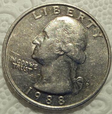 jeep liberty в Кыргызстан: Liberty quarter dollar 1988 (перевертыш)