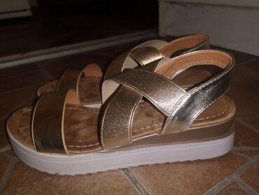 Zlato - Srbija: Sandale nove zlatne, broj 36
