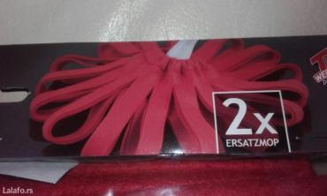 Krpa za mop. Iz nemacke, dve krpe u pakovanju, crvene boje,novo... - Novi Sad