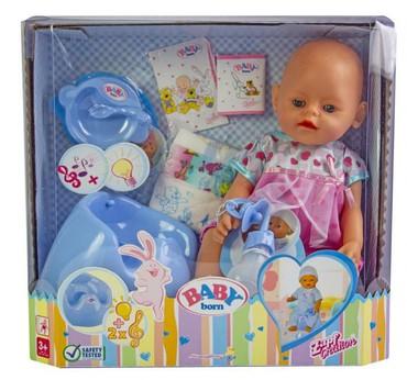 - Azərbaycan: Məhsul təsviriAksesuarları olan Baby Doğulmuş kukla (9 funksiya, 10