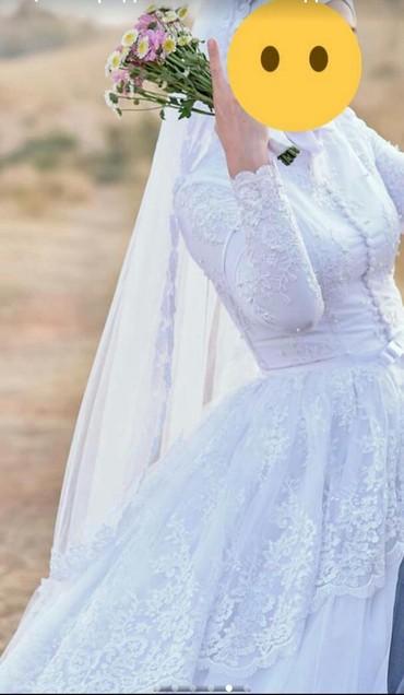 Свадебные платья - Токмак: Свадебное платье мусульманская в комплекте всё есть 5000 сом аренда