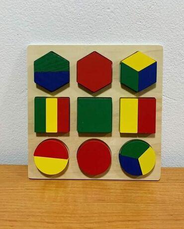 Slagalica sa geometrijskim oblicima. Jedna od najboljih igracaka za