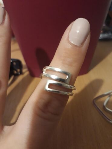 Prstenovi - Srbija: Srebrni prsten 17mm