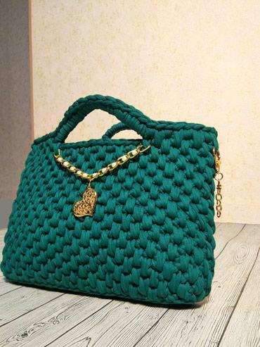 Вязанная сумка . Вязанный клатч . Уникальный аксессуар. в Бишкек