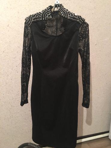 гипюр платье в Кыргызстан: Гипюровое черное платье, размер М, поколено