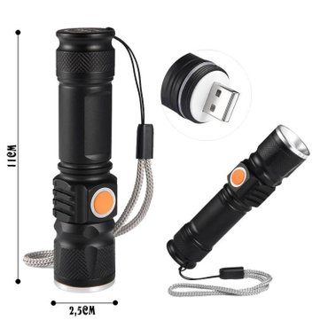 LED LAMPA USB PUNJENJE  Odlicna LED lampa sa T6 Cree diodom i - Nis