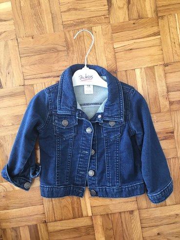 Dečije jakne i kaputi   Zrenjanin: Carters teksas jakna, za devojcice i decake, velicina 18 meseci ali je
