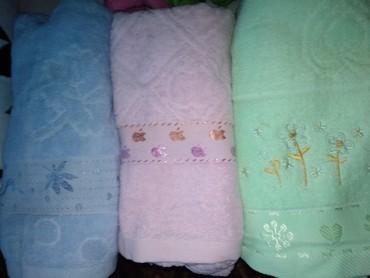 полотенца махровые в Кыргызстан: Махровые полотенца банные по 600 сом 0,75 на 1,35 возможна доставка