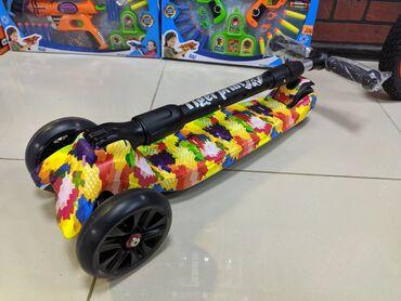 Детский трёхколёсный самокат премиум качество. TechTeam Tiger Print