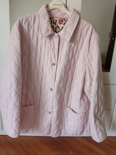 Jakne zenske - Srbija: Zenska jakna u nezno roze boji.Velicina 52