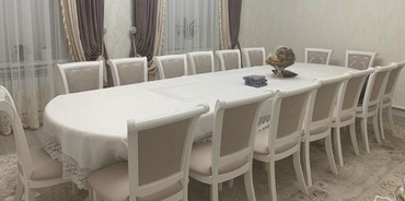 Продаю стол 4,5м стулья 16 штук карагач в Бишкек