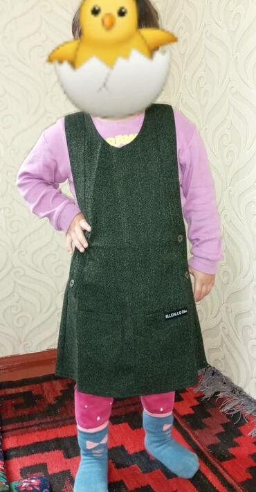 детские платья со шлейфом в Кыргызстан: Сарафан детский кышкыга абдан жылуу турецкий фасон материалы жакшы