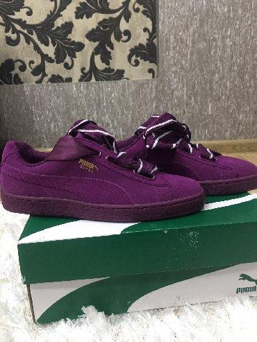 Женская обувь в Токмак: Puma, натуральная замша, 38,5-39 размер, заказывали с США, размер не