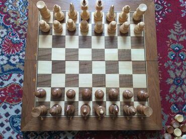 Шахматы - Кыргызстан: Дизайнерские шахматы, полная комплектация, сделаны из тёмного дуба