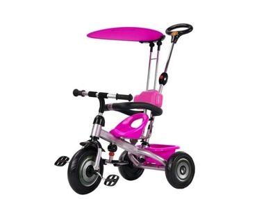 Tricikli - Srbija: Prodajem ovakav tricikl za devojčice od 1 do 3 godine, tricikl smo kup
