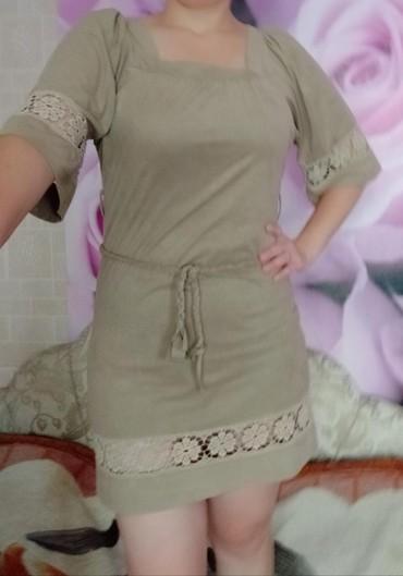 туника 42 размера в Кыргызстан: Платье-туника очень хорошего качества в отличном состоянии, размер~42-