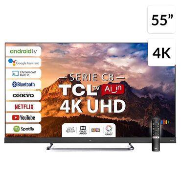 Телевизоры в Лебединовка: Телевизоры TCL 55 C8 Onkyo .4K HDR .Android с голосовым поиском