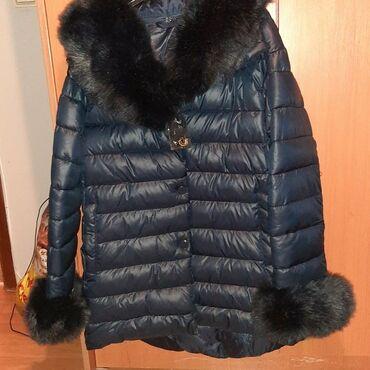 Markirana kozna jakna - Srbija: Nova jakna sa krznom oko vrata i ruke. Ima i u teget boji.Siva samo