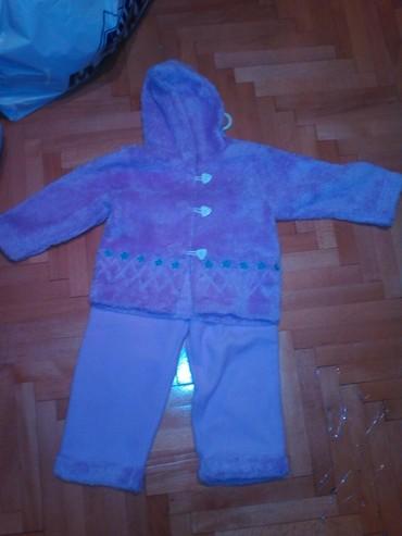Mekan kompletic za devojcice, jaknica I pantalone u ljubicastoj boji, - Belgrade