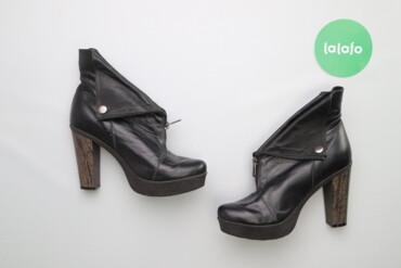 Жіночі стильні черевики на підборах з блискавкою, р. 40     Висота під