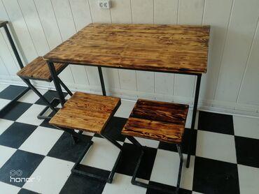 Стол стулдар сатылат лофт стилинде  4 стол 12 стул