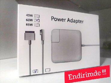 Noutbuklar üçün adapterlər - Azərbaycan: Apple Macbook adapterleri NewMac Safe 16.5w Mac Safe 2 - 65wMac Sade
