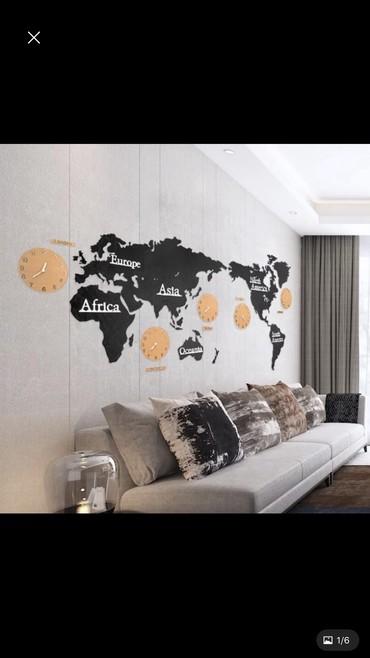 флорариумы на в Кыргызстан: Акриловый декор на всю стену тип 3D размер 202см на 105см часы 4 штуки