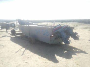 Su nəqliyyatı - Azərbaycan: Taxta qayiq 2 Yamaha 48 matorla birlikde satilir