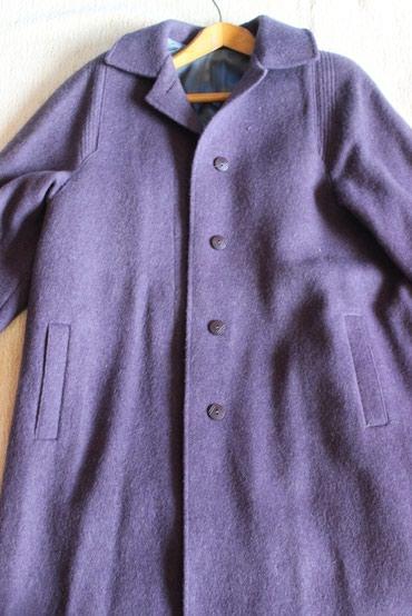 Пальто женское новое демисезонное, размер 44-46, натуральная шерсть в Бишкек