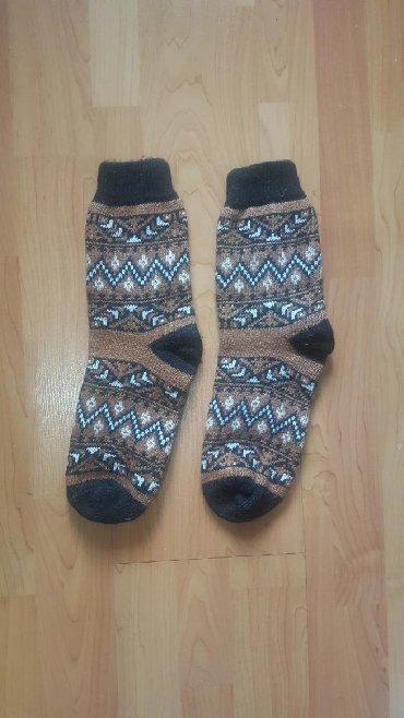 Другая мужская одежда в Кыргызстан: Вязаные носки НОВЫЕ отличное качество размер большой 40 очень теплые