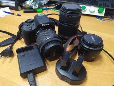 canon-efs-18-135mm в Кыргызстан: Canon EOS 100D с аксессуарамиКамера в идеальном состоянии. - Родная