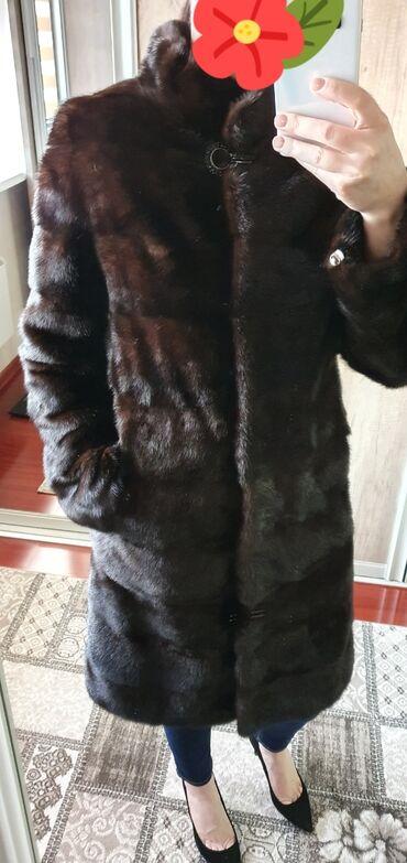 Шуба норка б/у 42-44 цвет махагон  Пальто новое 42-44 5000с