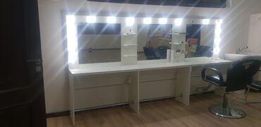 Декор для дома - Бишкек: Продаю визажное зеркало подходит и для парикмахеров.  В хорошем состоя