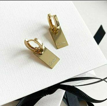 porsche panamera 4 в Кыргызстан: Серьги Cartier жёлтое золото,Италия 4,72 грамм, цена 19 000