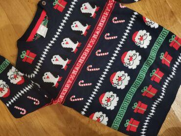 Dečija odeća i obuća - Smederevska Palanka: H&M, Nov bez etikete novogodišnji džemper za dečake Vel 92