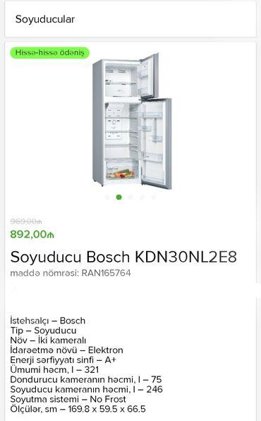 Yeni İki kameralı Gümüşü soyuducu Bosch