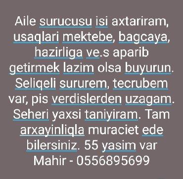 surucu isi 2018 - Azərbaycan: Taksi sürücüsü. (B)