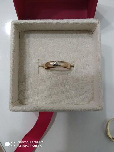 Бриллиант печатка - Кыргызстан: Кольцо с бриллиантиком 585 проба, размер 17 Россия. Красное золото
