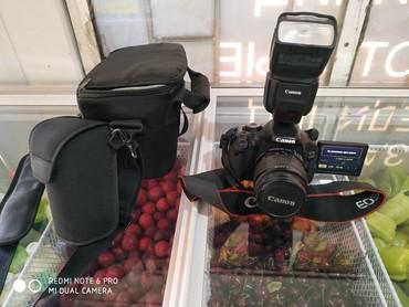 Фото и видеокамеры - Кок-Ой: Продаю фотоаппарат Canon 600D(чисто фирменный) и вспышку Canon 430EXII