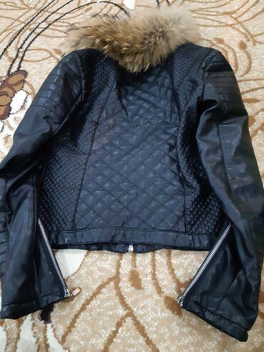 куртка russia в Кыргызстан: Курточка оригинал Zara Trafaluc, плотная кожзам,покупала в Москве
