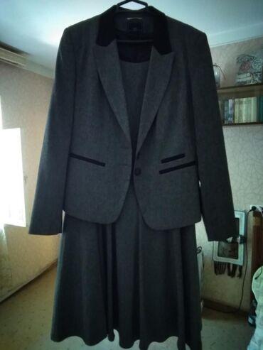 женские серые кеды в Азербайджан: Новая двойка костюм NEXT. Есть подклад, не мнется, длина пиджака