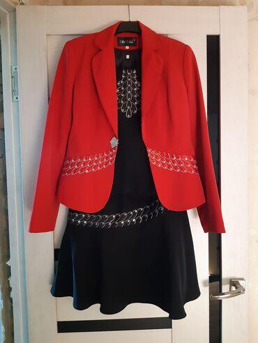 Личные вещи - Дачное (ГЭС-5): Продаётся костюм тройка с юбкой,юбка ниже колена. Размер (40) наш(46)