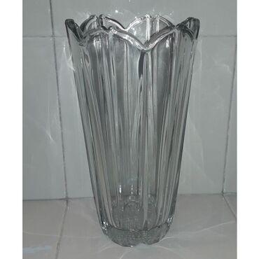 Βάζο γυάλινο διαφανές  Ύψος 23 εκατ. Διάμετρος 12 εκατ