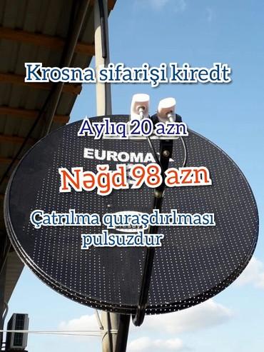 Bakı şəhərində Peyk atenaların quraşdırılması kiredti aylıq 20 azn nəğd 98 azn