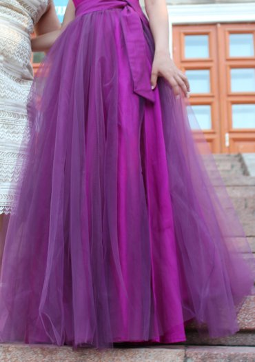 Пышная юбка, сшили на заказ. Надевали в Бишкек