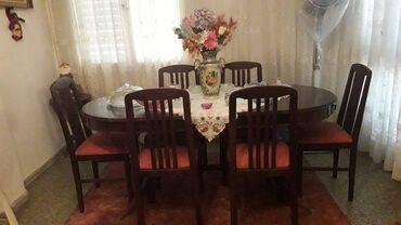 Σπίτι & Κήπος - Ελλαδα: Τραπεζαρία επεκτεινόμενη με 6 καρέκλες, μπουφές και μεγάλος
