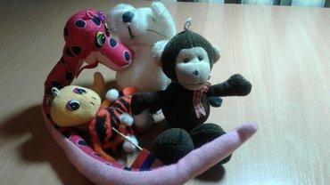 мягкая детская игрушка в Кыргызстан: Детские мягкие игрушки зверушки, за все 40 с